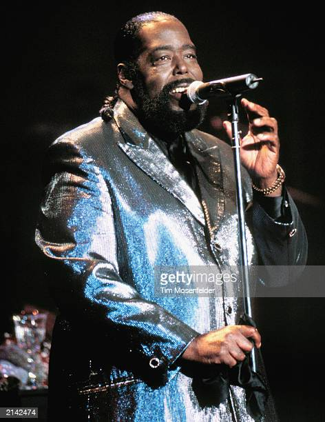 Barry White performing at Shoreline Amphitheater in Mountain View Calif on October 1st 1999