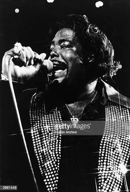 Barry White the great American black soul singer performing