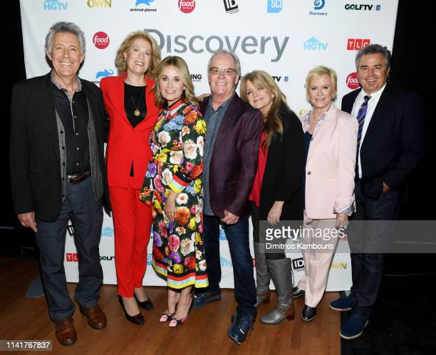 Barry Williams Kathleen Finch Maureen McCormick Mike Lookinland Susan Olsen Eve Plumb Christopher Knight attend Discovery Inc 2019 NYC Upfront at...