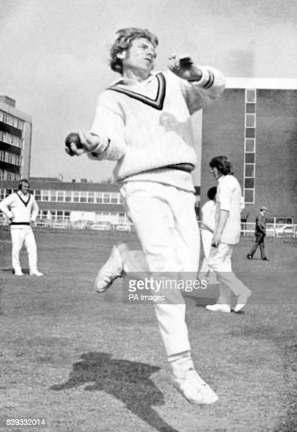 Barry Wood of Lancashire County Cricket Club in practise