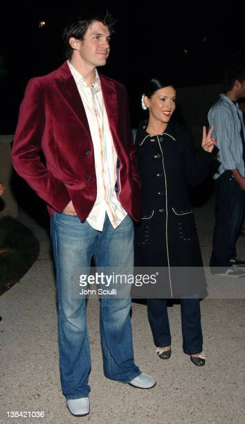 Barry Zito and Alyssa Milano during Esquire House Hosts Young Hollywood Rock The Vote Party Arrivals at The Esquire House Los Angeles in Beverly...