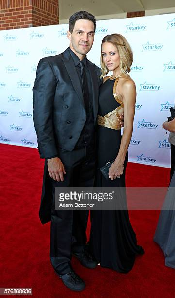 "Barry Zito and wife walk the red carpet at the 2016 Starkey Hearing Foundation ""So the World May Hear"" awards gala at the St Paul RiverCentre on July..."