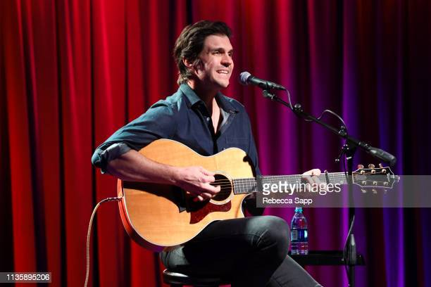 Barry Zito performs at Baseball Exhibit Opening with Barry Zito at The GRAMMY Museum on March 14 2019 in Los Angeles California