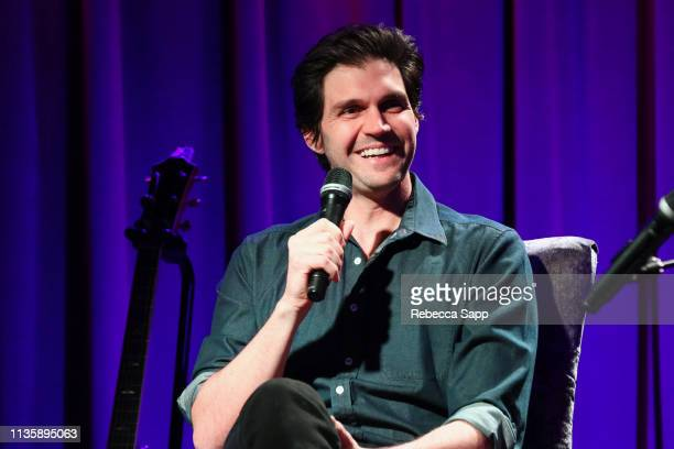 Barry Zito speaks onstage at Baseball Exhibit Opening with Barry Zito at The GRAMMY Museum on March 14 2019 in Los Angeles California