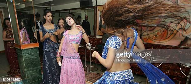 Bars and Restaurants Bar Dancers Bar girls entertain customers in a dance bar at Andheri West