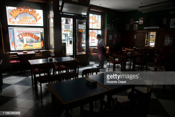 Bars and shops close their doors during the massive energy blackout in Argentina on June 16 2019 in Buenos Aires Argentina A widespread power failure...