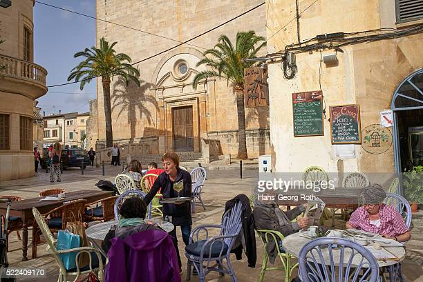 Bars in the square outside the church, Pla��a Mayor