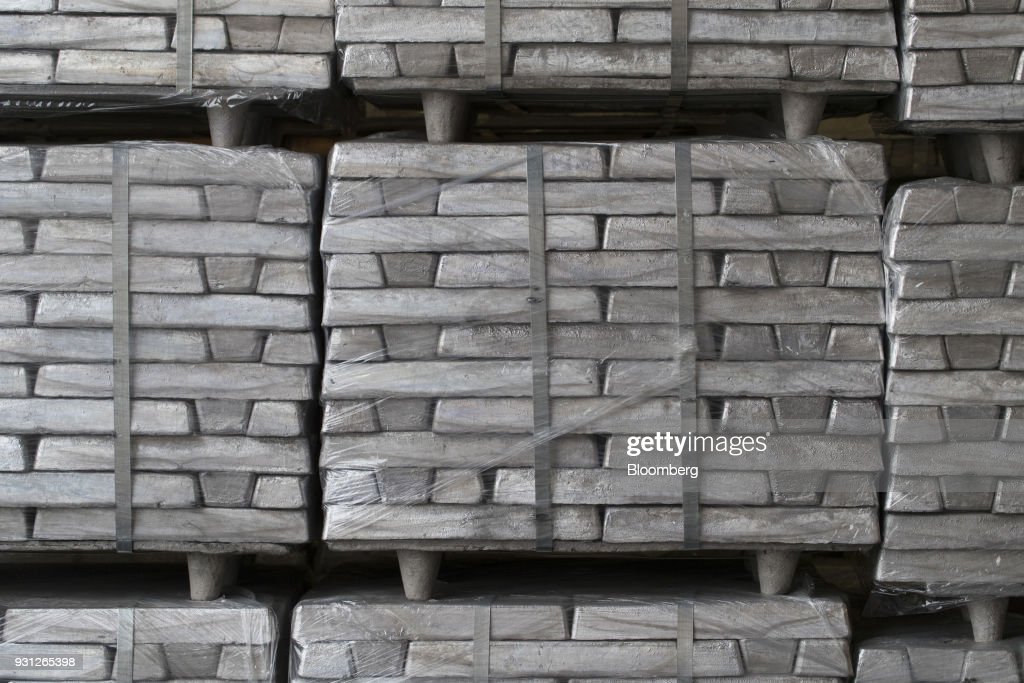Bars of magnesium sit stacked on pallets in Rotterdam, Netherlands, on Monday, Jan. 22, 2018. Cobalt 27 Capital Corp. holds almost 3,000 metric tons of cobalt, the largest private stockpile on the planet. Photographer: Jasper Juinen/Bloomberg via Getty Images