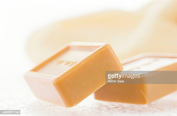 Bars of soap, close up