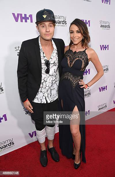 Bart Baker and Shira Lazar attend VH1's 5th Annual Streamy Awards at the Hollywood Palladium on Thursday September 17 2015 in Los Angeles California
