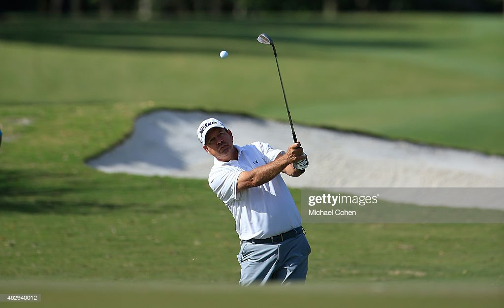 Bart Bryant hits his third shot on the 11th hole during the second round of the Allianz Championship held at The Old Course at Broken Sound on February 7, 2015 in Boca Raton, Florida.