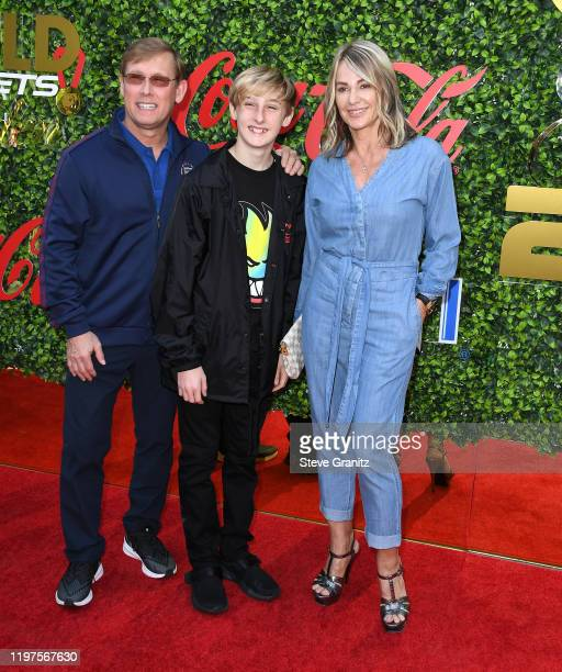 Bart Conner, Dylan Conner, and Nadia Comaneci arrives at the 7th Annual Gold Meets Golden at Virginia Robinson Gardens and Estate on January 04, 2020...