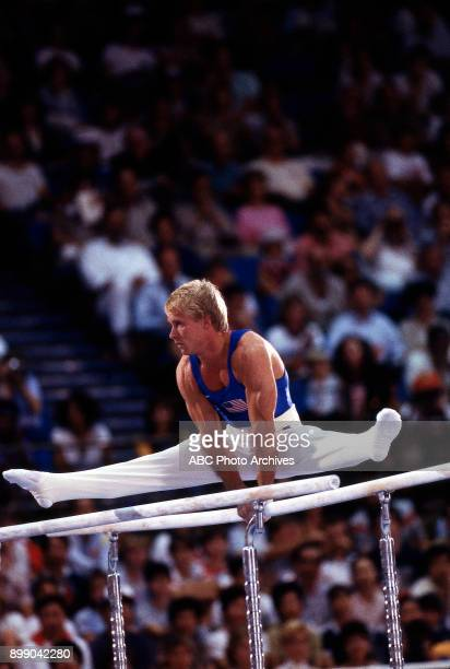 Bart Conner Men's Gymnastics team competition Pauley Pavilion at the 1984 Summer Olympics July 31 1984