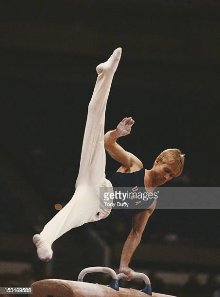 Bart Connor of the United States performs during the Men's Pommel horse event on 29th October 1979 during the World Artistic Gymnastics Championships...