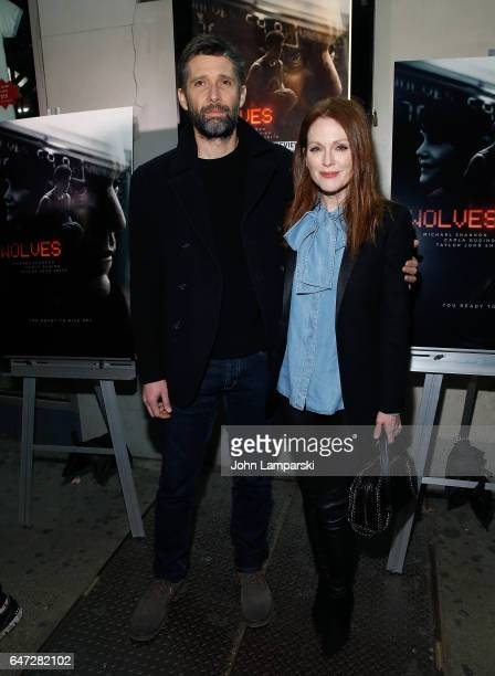 Bart Freundlich and Julianne Moore attend 'Wolves' special screening at IFC Center on March 2 2017 in New York City