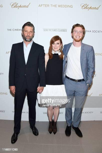 "Bart Freundlich, Julianne Moore and Caleb Freundlich attend ""After The Wedding"" New York Screeningat Regal Essex on August 06, 2019 in New York City."