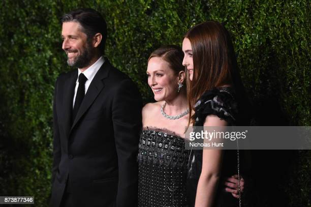 Bart Freundlich Julianne Moore and Liv Helen Freundlich attend The Museum of Modern Art Film Benefit presented by CHANEL A Tribute to Julianne Moore...