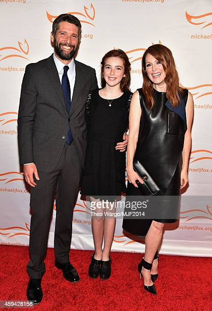 Bart Freundlich Liv Freundlich and Julianne Moore attend 2014 A Funny Thing Happened On The Way To Cure Parkinson's at The Waldorf=Astoria on...