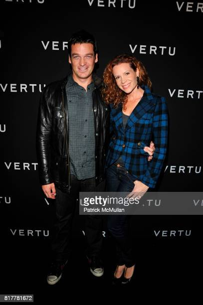 Bart Johnson and Robyn Lively attend Vertu Constellation Quest Launch Event New York at Berry Hill Galleries NYC on October 20 2010 in New York City