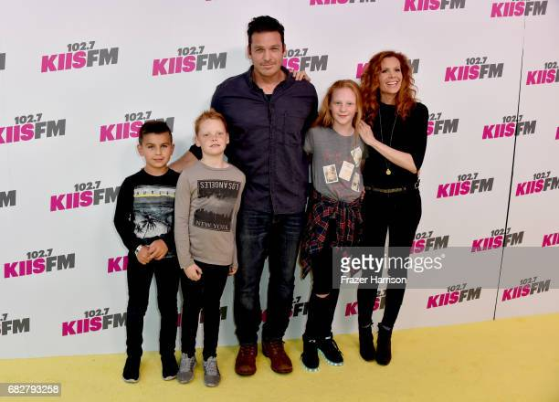 Bart Johnson and Robyn Lively with kids attend 1027 KIIS FM's 2017 Wango Tango at StubHub Center on May 13 2017 in Carson California