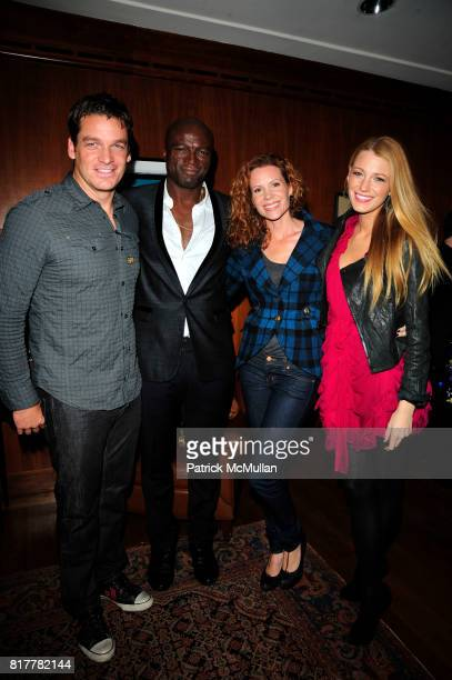 Bart Johnson SEAL Robyn Lively and Blake Lively attend Vertu Constellation Quest Launch Event New York at Berry Hill Galleries NYC on October 20 2010...