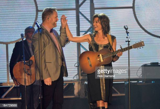 Bart Milliard and Amy Grant perform onstage at the 44th Annual GMA Dove Awards on October 15 2013 in Nashville Tennessee