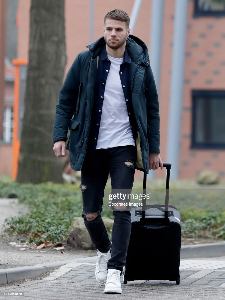 Bart Nieuwkoop of Holland U21 during the Arrival Holland U21 at the KNVB campus at the KNVB Campus on February 19, 2018 in Zeist Netherlands