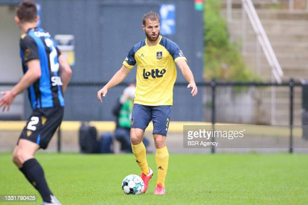 Bart Nieuwkoop of Union Saint-Gilloise during the Jupiler Pro League match between Union Saint Gilloise and Club Brugge at Joseph Marien Stadion on...