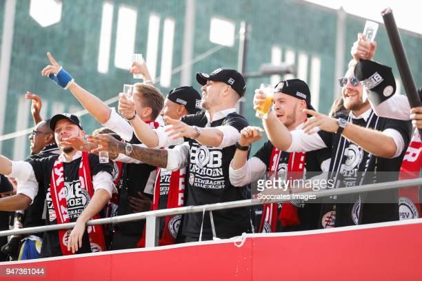 Bart Ramselaar of PSV, Eloy Room of PSV, Marco van Ginkel of PSV, Jorrit Hendrix of PSV, Jeroen Zoet of PSV leaving the stadium during the champions...