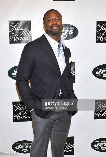 Bart Scott attends Monday Night Football With The New York Jets on November 26 2012 in Short Hills City