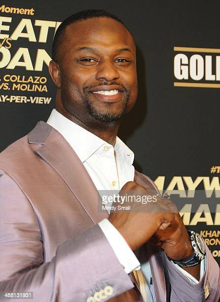Bart Scott attends the Mayweather Vs Maidana PreFight Party Presented By Showtime at MGM Garden Arena on May 3 2014 in Las Vegas Nevada