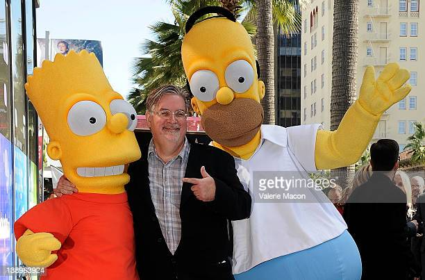 Bart Simpson Matt Groening Homer Simpson attendthe ceremony honoring Matt Groening with a Star on The Hollywood Walk of Fame on February 14 2012 in...