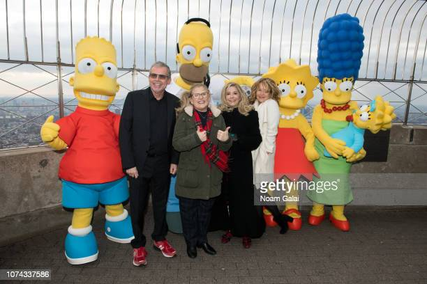 Bart Simpson Mike Scully Homer Simpson Nancy Cartwright Pamela Hayden Stephanie Gillis Lisa Simpson Marge Simpson and Maggie Simpson visit The Empire...