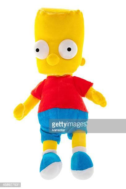 bart simpson suave juguete - homer simpson fotografías e imágenes de stock