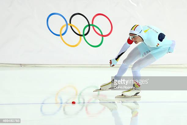 Bart Swings of Belgium competes during the Men's 1500m Speed Skating event on day 8 of the Sochi 2014 Winter Olympics at Adler Arena Skating Center...