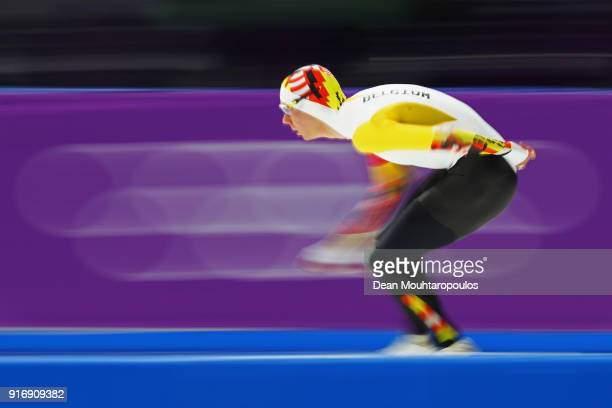 Bart Swings of Belgium competes in the Men's 5000m Speed Skating event on day two of the PyeongChang 2018 Winter Olympic Games at Gangneung Oval on...