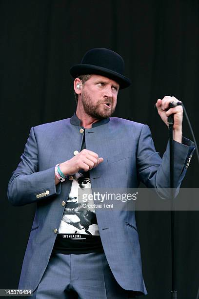 Bart van der Weide of Racoon performs live on day two of Pinkpop Festival at Megaland on May 27 2012 in Landgraaf Netherlands