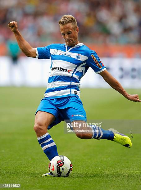Bart van Hintum of Zwolle in action during the 19th Johan Cruijff Shield match between Ajax Amsterdam and PEC Zwolle at the Amsterdam ArenA on August...
