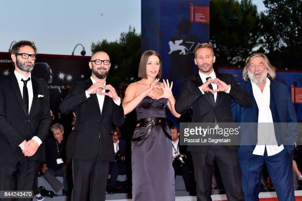 Bart Van Langendonck Michael Roskam Adele Exarchopoulos Matthias Schoenaerts and PierreAnge Le Pogam walk the red carpet ahead of the 'Racer And The...