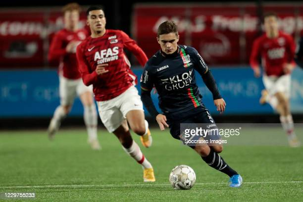 Bart van Rooij of NEC during the Dutch Keuken Kampioen Divisie match between AZ Alkmaar U23 v NEC Nijmegen at the AFAS Trainingscomplex on November...