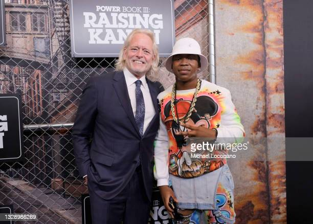 Bart Wenrich and Mekai Curtis attend 'Power Book III: Raising Kanan' global premiere event and screening at Hammerstein Ballroom on July 15, 2021 in...
