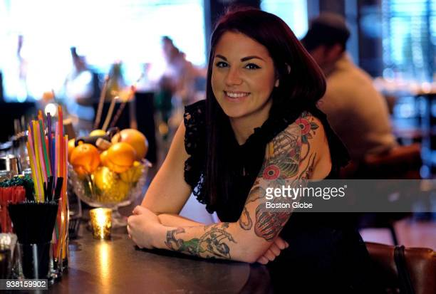 Bartender and assistant general manager Jacki Schromm poses for a portrait at Lion's Tale in Boston on March 23 2018 As dating apps like Tinder and...
