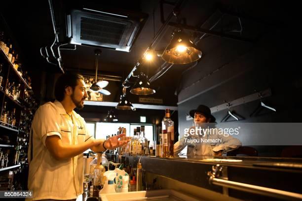 Bartender and customer