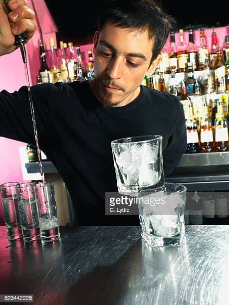 Bartender Behind Bar