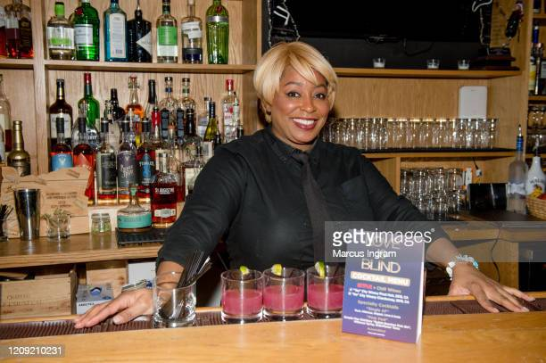 Bartender Carolyn Williams ready to mix drinks during the Netflix's Love is Blind VIP viewing party at City Winery on February 27 2020 in Atlanta...