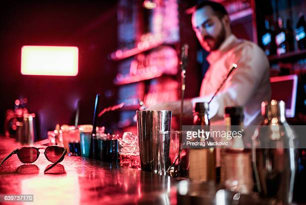 Bartender in the club
