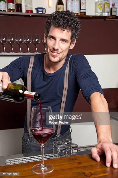 Bartender in winebar