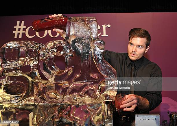 Bartender is seen serving drinks at The Age of Cool hosted by Philosophy and Ellen Pompeo at Quixote on September 22 2016 in West Hollywood California