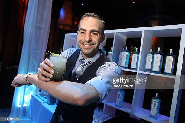 Bartender Nathan Gerdes poses for a photo during Bombay Sapphire's 2012 Most Imaginative Bartender Summit at XS The Nightclub at Encore Las Vegas on...