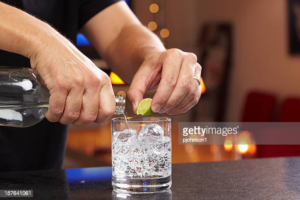 bartender - vodka stock pictures, royalty-free photos & images